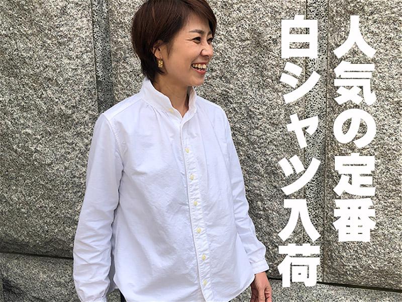 人気の定番白シャツ入荷